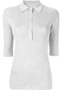 Camisa Pólo Cinza feminina  1676f2081e61c
