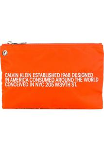 Calvin Klein 205W39Nyc Bolsa Clutch 'Est.' - Laranja