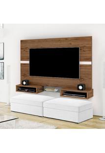 Painel Para Tv Até 40 Polegadas Replay Canela E Off White