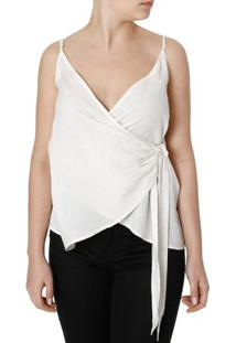 Blusa Regata Feminina Autentique Off White