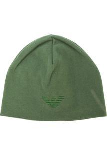 Emporio Armani Gorro Com Logo - Verde