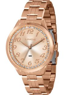 Relógio Lince Feminino Strass Analógico Dourado Lrr4440L-R2Rx - Kanui