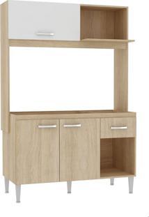Cozinha Compacta Aperibe 3 Pt 1 Gv Carvalho E Branco
