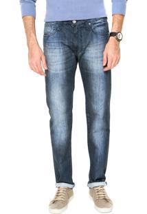 Calça Jeans Colcci Pespontos Slim Azul