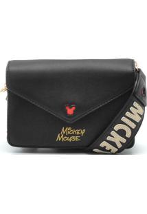 Bolsa Mickey Mouse Logo Preta