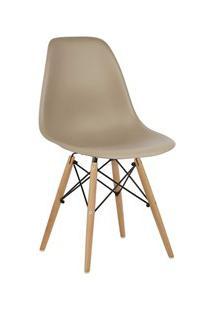 Cadeira Eiffel Charles Eames Nude F01 Com Base De Madeira - Mpozenato