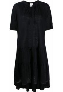 Allude Vestido Com Amarração Na Gola - Azul