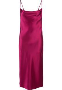 Fleur Du Mal Cowl Neck Slip Dress - Vermelho