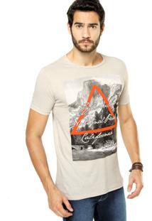 Camiseta Fiveblu Reta Bege