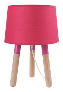 Luminária De Mesa Urban Madeira Stick Feet - Pink