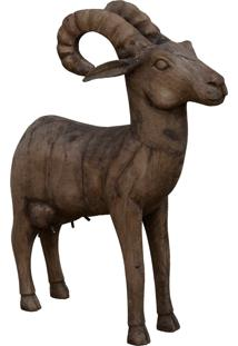 Estatua Animal- Pashmina- Madeira- Marrom - Marrom - Dafiti