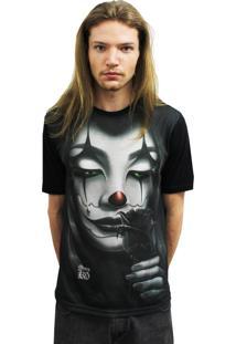 Camiseta Manga Curta Alkary Palhaça Preto