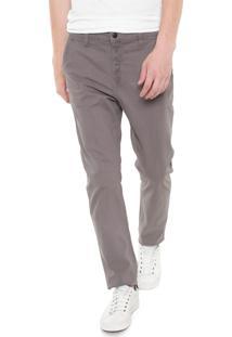 Calça Sarja Calvin Klein Jeans Chino Color Cinza