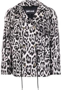 Just Cavalli Leopard Print Jacket - Preto