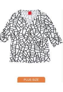 Blusa Branca Geométrica