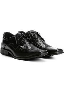Sapato Social Walkabout Texturizado Bico Quadrado - Masculino-Preto