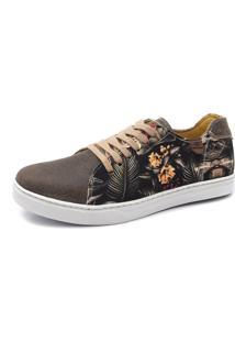 Sapatênis Shoes Grand Beach Floral Tropical - Cafè