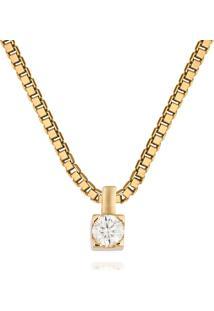 Pingente Solitã¡Rio Ouro Amarelo E 17,5 Pontos De Diamantes