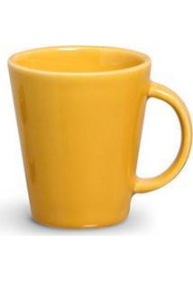Conjunto De Canecas Basic Em Cerâmica 208 Ml Com 04 Peças Amarelo - Porto Brasil