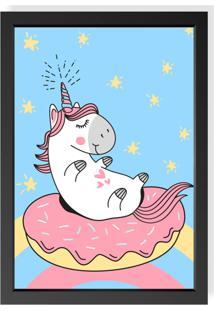 Quadro Love Decor Decorativo Infantil Unicorn Cute