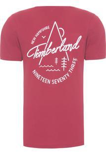 Camiseta Masculina Back Logo Rosewood - Vermelho