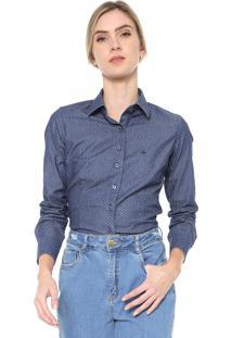 Camisa Jeans Dudalina Poás Azul-Marinho