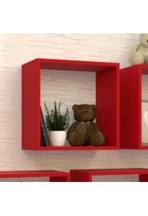 Nicho Cubo Para Quarto Infantil Vitra Bramov Móveis Vermelho