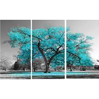 ed76ae0d1 Quadro Decorativo Arvore Azul Tiffany Trio 60X120