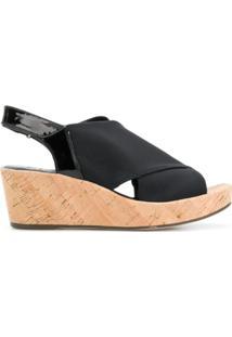 Hogl Sandália Com Plataforma - Preto