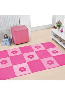 Passadeira Guga Tapetes Big Premium Margarida 1.20Mx0,74Cm Pink