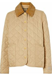 Burberry Diamond Quilted Jacket - Marrom