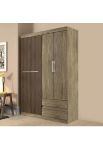 Guarda-Roupa 4 Portas 2 Gavetas Rp8042 Wood/Cedro - Decibal Móveis