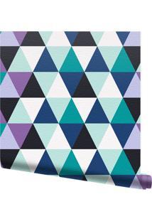 Papel De Parede Adesivo Triangles Multicolorido