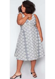 Vestido Midi Almaria Plus Size Tal Qual Bordado Pr