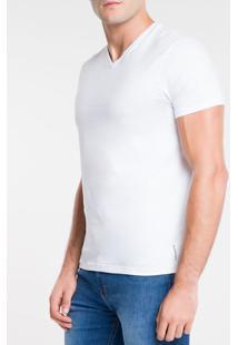 Camiseta Ckj Mc Dec V Essentials - Branco 2 - Pp