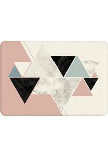 Tapete De Sala Wevans Triângulos Escandinavos Off White/Rosa
