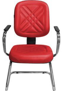 Cadeira Pethiflex Pd-04Scbc Couro Vermelho