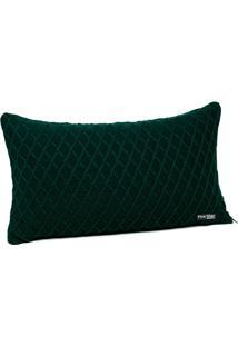 Capa De Almofada Tricot 60X40 C/ZãPer Sofa Cod 354.8 Verde Musgo - Multicolorido - Dafiti