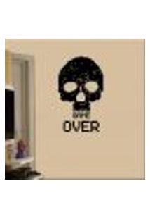 Adesivo De Parede Caveira Pixel Game Over - Eg 164X98Cm