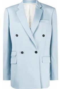Stella Mccartney Blazer Oversized Com Abotoamento Duplo - Azul