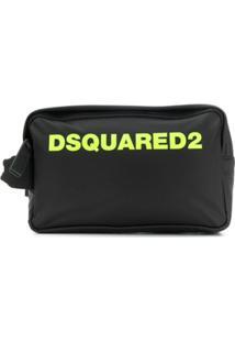 Dsquared2 Necessaire Com Logo - Preto