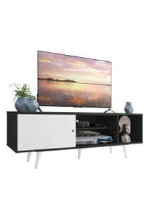 Rack Madesa Dubai Para Tv Até 65 Polegadas Com Pés Preto/Branco/Branco