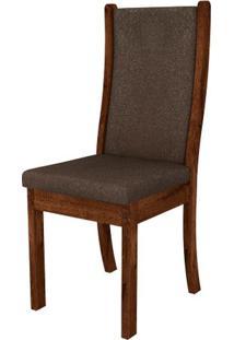 Cadeira Malta 2 Peças - Rústico Malbec Com Pena Marrom