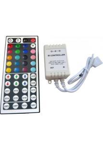 Controlador De Fita Led 12V C/Controle Remoto S/Fio 44 Botões Alltech