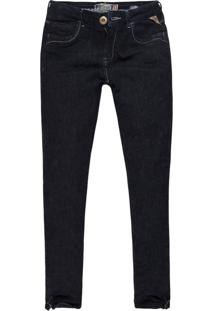 Calça Jeans Khelf Skinny Zíper Barra Jeans