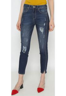 Jeans Chloã© Skinny Com PuãDos- Azul- Forumforum