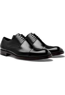 Sapato Social Brogan Derby Tom Masculino - Masculino-Preto