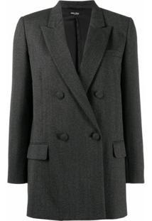 Miu Miu Blazer Com Abotoamento Duplo - Cinza