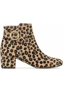 Tila March Ankle Boot Animal Print - Marrom