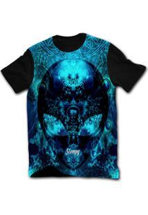 Camiseta Manga Curta Stompy Psicodelica 47 Preto